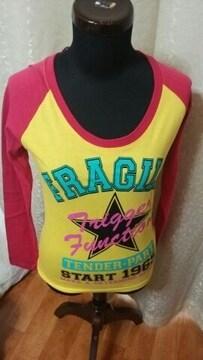 ★未使用 タグ付 ハデハデ Tシャツ サイズ M 長袖●
