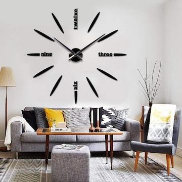 掛け時計  手作り DIY 北欧 ブラック