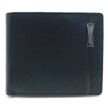 未使用 美品COMME CA MENコムサメン 二つ折り財布  黒 正規品