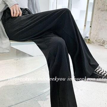 3L4L大きいサイズ/シンプル黒パンツ