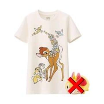 ユニクロ×Disney・バンビTシャツ。ホワイト