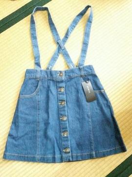 ☆INGNI☆サスペ付台形スカート☆新品タグ付☆