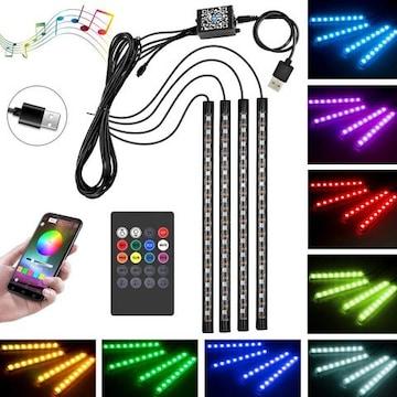 60LED RGB テープライト USB式 車内装飾用