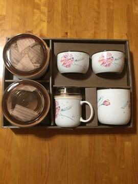 252.新品☆ふた付き陶器の入れ物8個セット