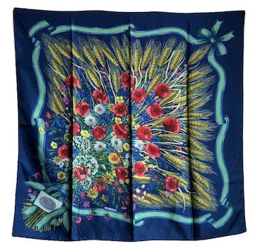 美品正規グッチ大判スカーフ花柄フローラオールドヴィンテ