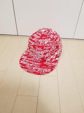 新品◆GRENADE◆キャップ 赤×白ロゴロゴ総柄 L/XL