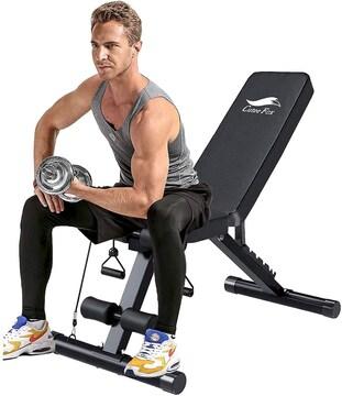 トレーニングベンチ 折り畳み 腹筋 背筋 ダンベル