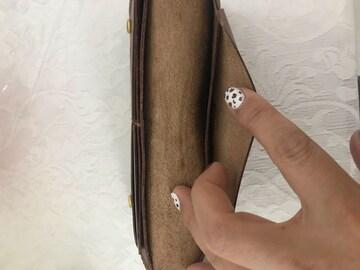 レーザー牛革長財布