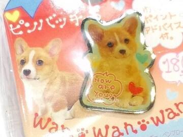 送定円kgDOGワンワンワンコsanX犬ピンバッヂBadgeバッチウェルシュコーギーHowアクセサリー