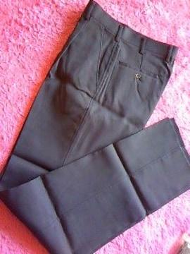 男性用作業用ストレートタイプ紺色のズボン裾上げテープ付新品