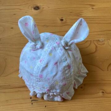 うさミミかわいい新生児帽子42cm