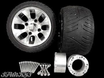 ジャイロ用 ツートンホイール扁平タイヤ&スペーサー70mm