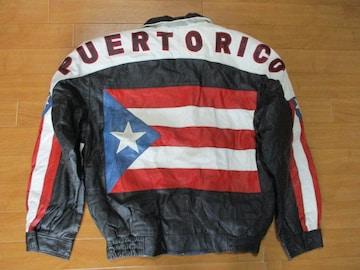 PUERTORICO プエルトリコ レザージャケット USA−M