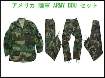 USAミリタリーBDUセット カモー本物 陸軍USED ARMY BDU 9/10 ヴィンテージ