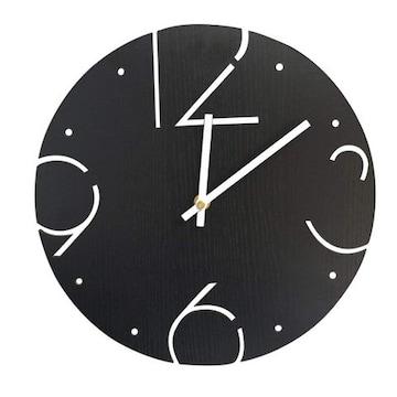 壁掛け時計 アナログ01-black