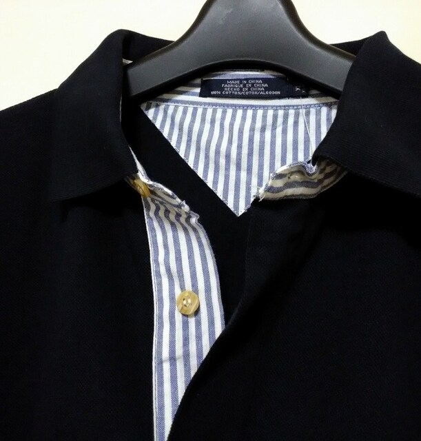 セールビッグシルエット着回し抜群ネイビーポロシャツ2XL < 男性ファッションの