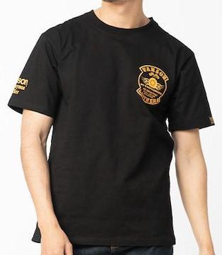 新品正規バンソンVS21807SコットンTシャツ黒×イエロー
