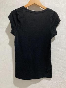 ZARA ザラ フレンチスリーブ 半袖 トップス 黒 ブラック 無地 tシャツ レディース