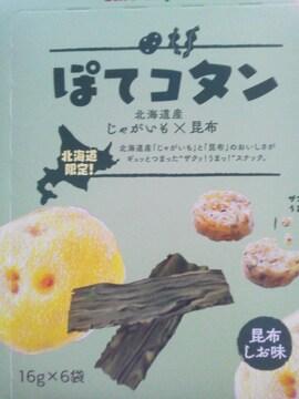 カルビー ポテト ぽてコタン 北海道産じゃがいも×昆布 16g×6袋