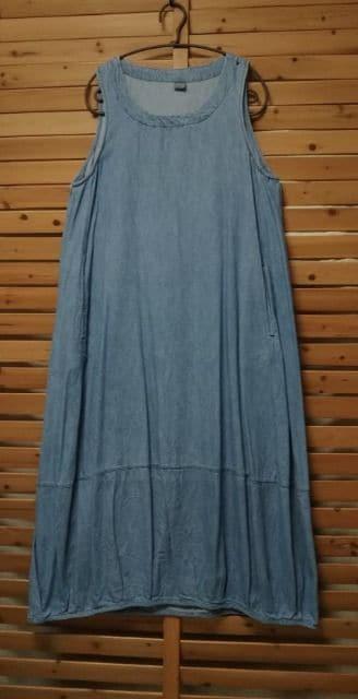 * D*g*y *デニム バルーンワンピース 未使用 < 女性ファッションの