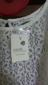 新品*earth* レース*羽織り?