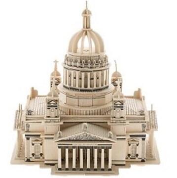 【3Dウッドクラフト*ジグソーパズル】ロシア聖イサアク大聖堂*