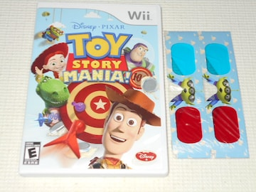 Wii★TOY STORY MANIA! 海外版 未開封3Dメガネ 2個付