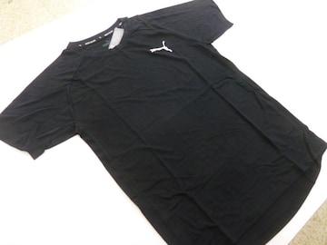 L黒)プーマ★Tシャツ 582971 半袖丸首薄手ドライセル吸水速乾 裾口楕円形