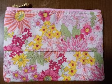 期間限定値下中☆送料込み価格 ティッシュポーチ�A 花柄(ピンク)
