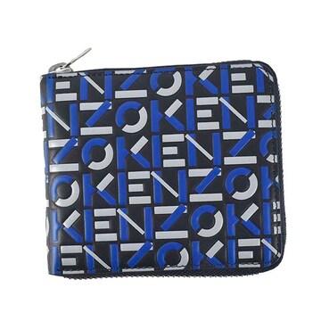 ◆新品本物◆ケンゾー KENZO STAMP 2つ折財布(BL)FA65PM503L45◆