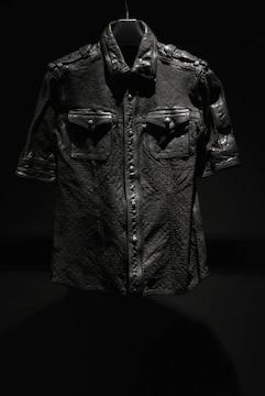 (定価156600)バックラッシュ・レザーパンチング半袖シャツ
