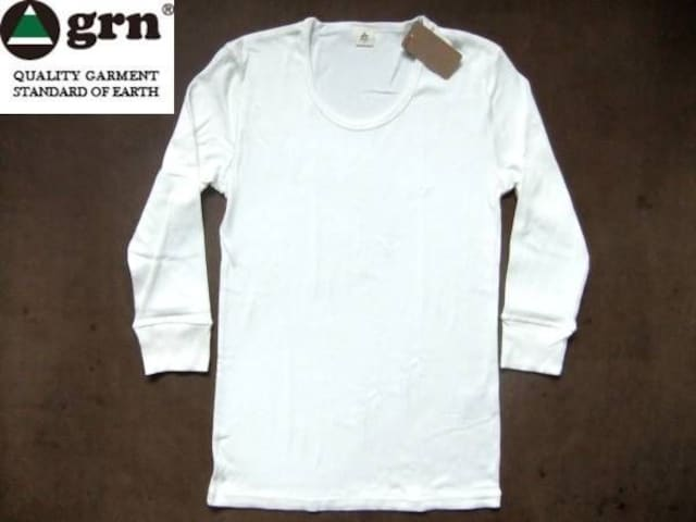 grn(ジーアールエヌ)無地 7分袖 Tシャツ S ナチュラル  < 男性ファッションの