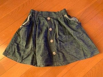 ティーンズ デニム風ミニスカート160(紗理奈)部屋整理