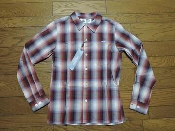 新品CHALLENGERチャレンジャーチェックシャツS赤胸ロゴ