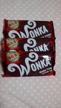 チャーリーとチョコレート工場☆ウォンカ☆ウォッシュタオルト☆3枚セット