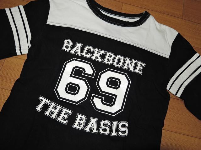 バックボーンBACKBONEカットソーS黒白ナンバリングTシャツ69 < ブランドの