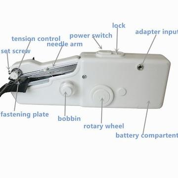 家庭用ミシン 手持ち 電池式 電動ミニミシン アミーガー