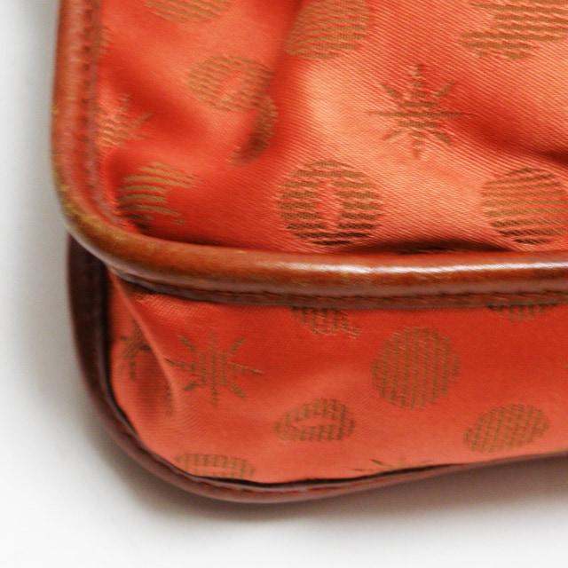ハンティングワールド ショルダーバッグ  オレンジ 良品 正規品 < ブランドの