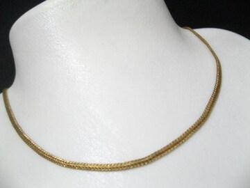 本物18金ゴールドメッキ.K18GP刻印の人気なめらか平スネークネックレス1品限
