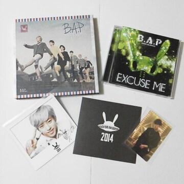 CD★Unplugged&【公式】B.A.P★LIVE ON~014ポラ  デヒョン★直筆サイン