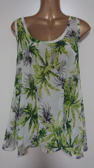 夏!ヤシの木のタンクトップL  < 女性ファッションの