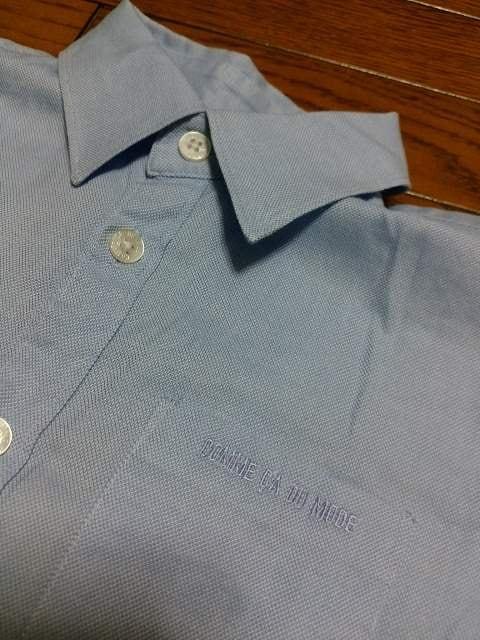 美品★『COMME  CA  DU  MODE』水色長袖シャツ=120A= < ブランドの
