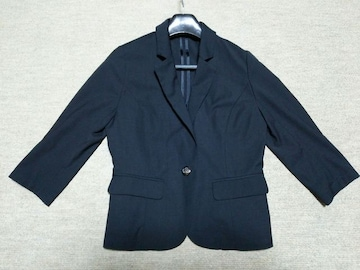 春夏サマージャケット七分袖★薄手ブラック黒フォーマル冷房対策