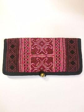 鈴付きモン族刺繍財布★ヒッピー★アジアン★エスニック★サイケ