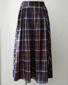 しまむら★チェック柄 ロングスカート