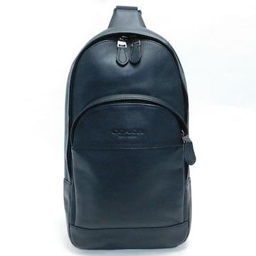 超美品COACHコーチ ボディバッグ レザー 黒 F49312 良品 正規品