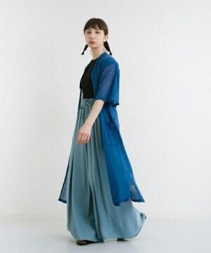 500スタ☆麻混フレアースリーブロングカーディガン☆新品タグ付き