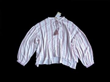 新品 定価4900円 レイカズン エスニック 刺繍 シャツ ブラウス