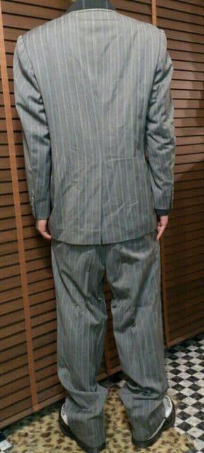 即決トライブワークスストライプクロスラグジュアリースーツ!ロックンロールロカビリー < 男性ファッションの
