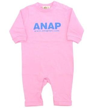 新品ANAPKIDS☆ロゴ ロンパース 70 ピンク 長袖 アナップキッズ
